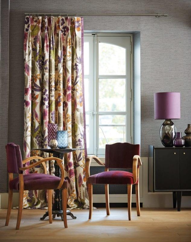 bi-pleat curtain style