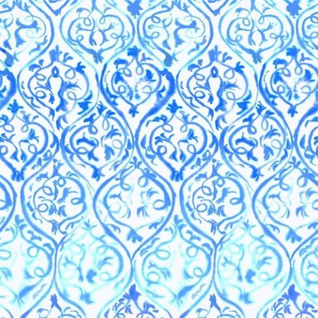 Icon Textiles Designers Guild Majolica Wallpaper Arabesque