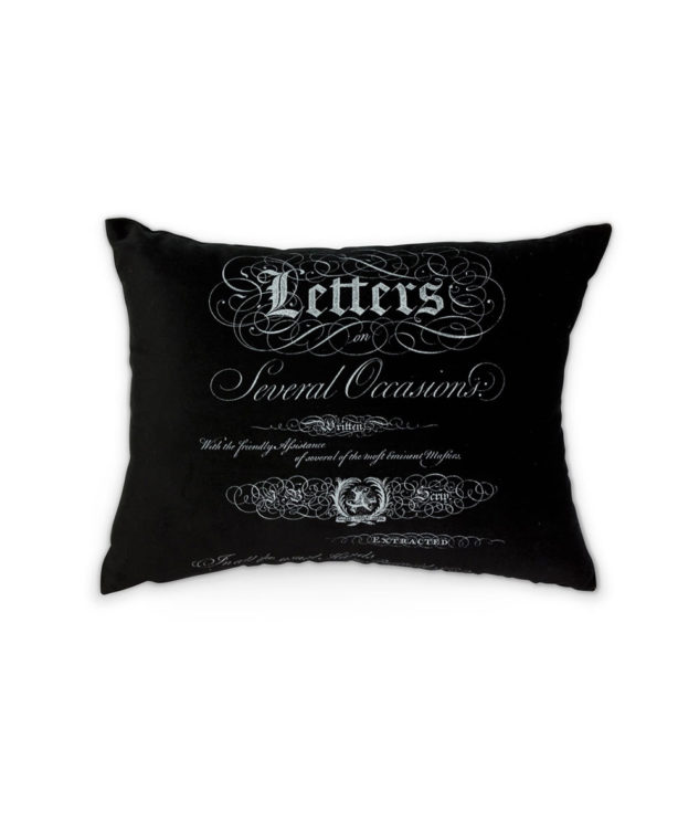 Arcanum Black Calligraphy Medium Oblong Cushion