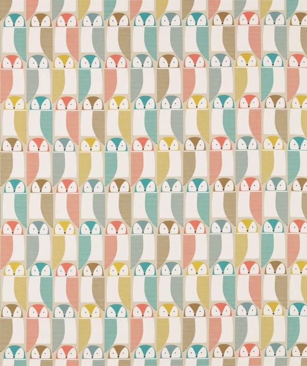 Scion Pepino Fabric Collection - Barnie Owl