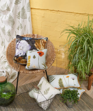 Clarke & Clarke Botanica Fabric Collection available at McKenzie & Willis