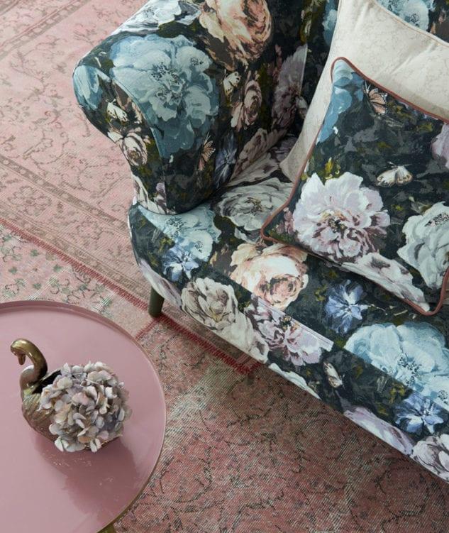 Clarke Clarke Botanica Floretta Heather Pietra Ivory Fabric 1 633x751