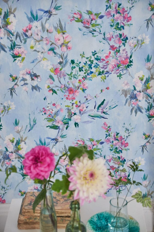 Designers Guild Majolica Faience Sky Wallpaper
