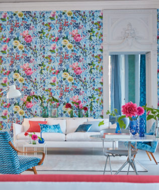 Designers Guild Majolica Wallpaper Collection available at McKenzie & Willis