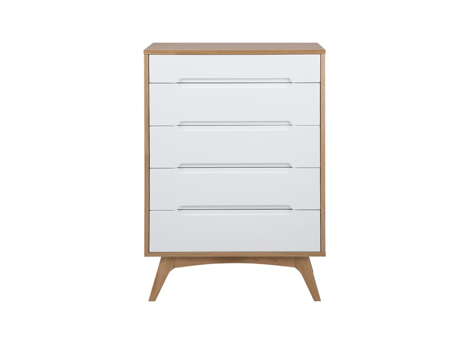 East West Designs Copenhagen 5 Drawer Tallboy