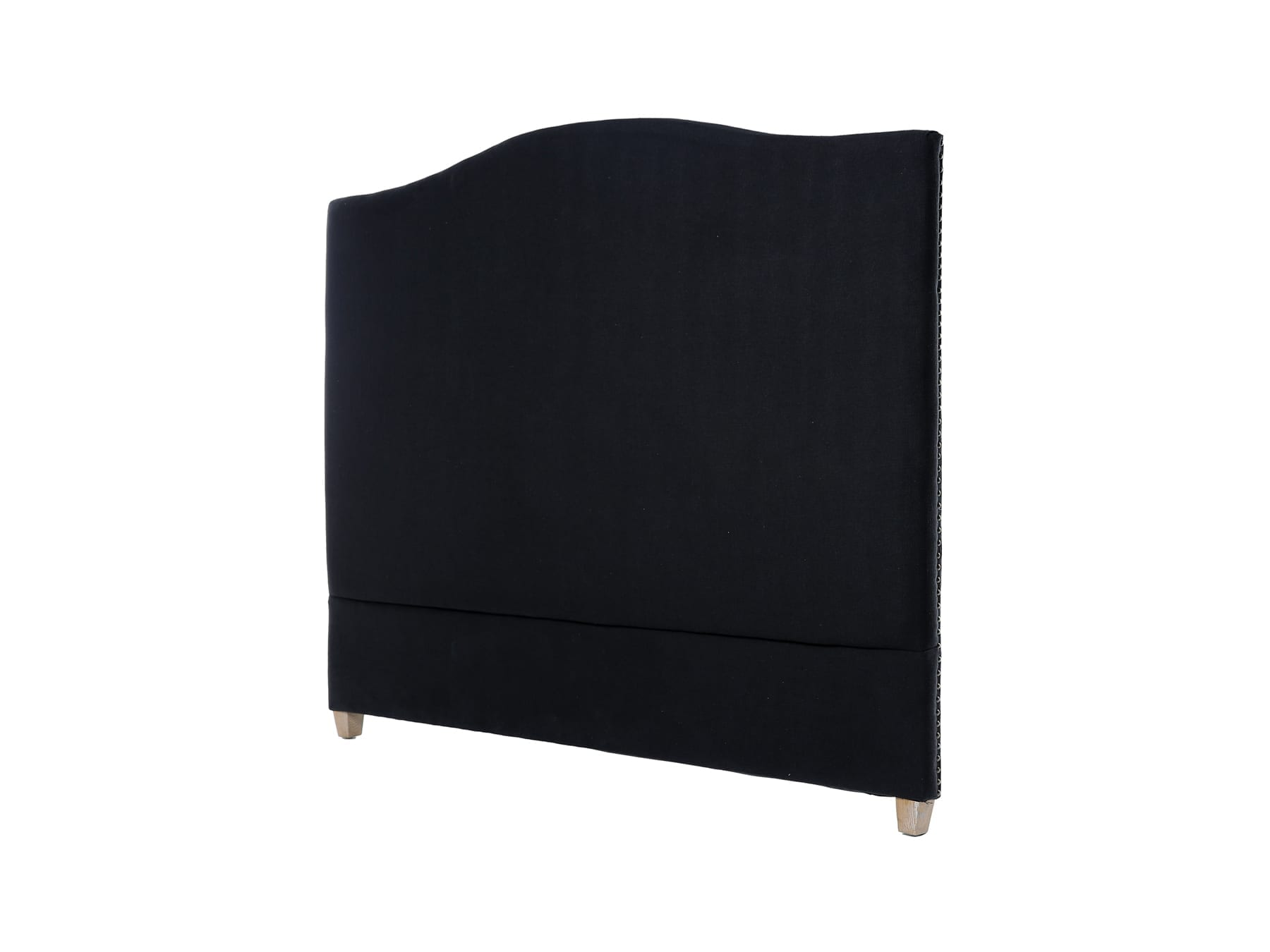 Linens & More Annabel Headboard in Black Linen available at McKenzie & Willis