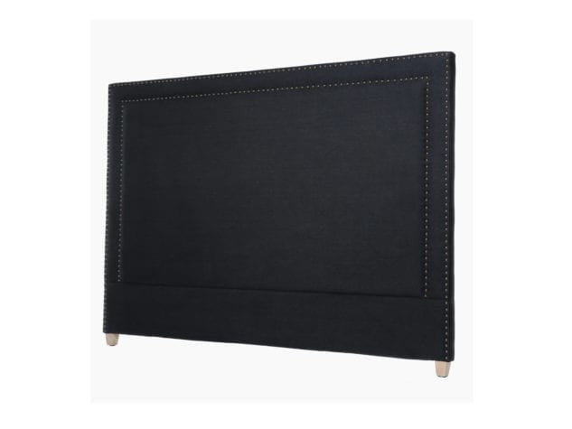 Linens & More George Headboard in Black Linen