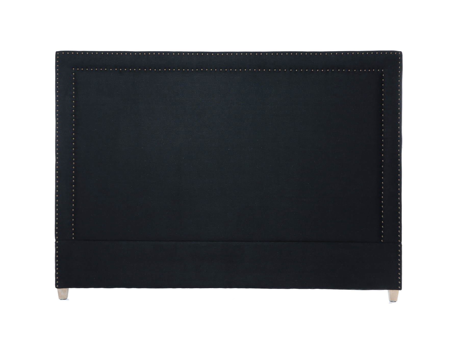 Linens & More George Headboard in Black Linen available at McKenzie & Willis