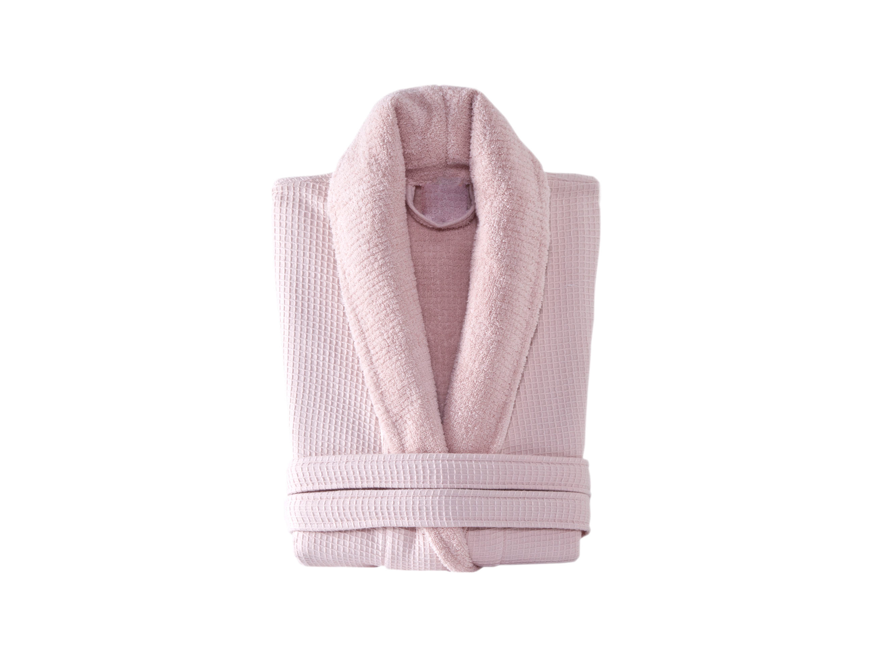 Linens & More Turkish Cotton Bathrobe in Dusty Pink available at McKenzie & Willis