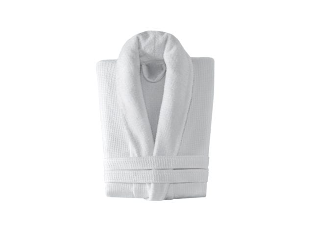 Linens & More Turkish Cotton Bathrobe in White