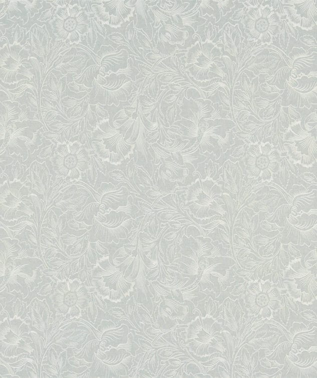 Morris & Co Fabric Collection Pure Poppy Embroidery