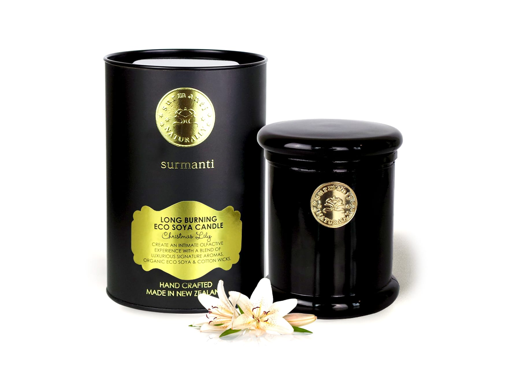 Surmanti Soya Long Burn Candle available at McKenzie & Willis