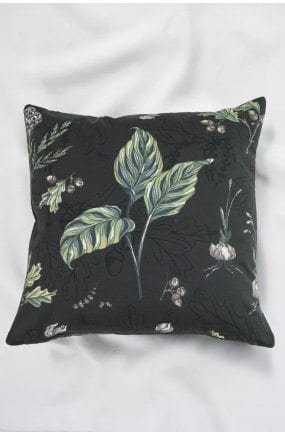 Bianca Lorenne Botaniska Charcoal Cushion available at McKenzie & Willis