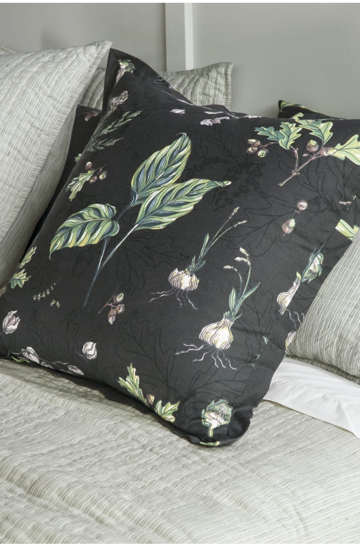 Bianca Lorenne Botaniska Charcoal eurocase available at McKenzie & Willis