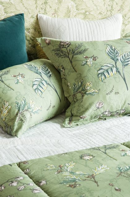 Bianca Lorenne Botaniska Green pillowcase