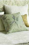 Bianca Lorenne Botaniska Green Cushion available at McKenzie & Willis