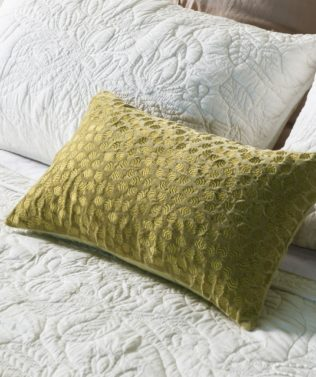 Bianca Lorenne Folia Chartreuse Cushion available at McKenzie & Willis