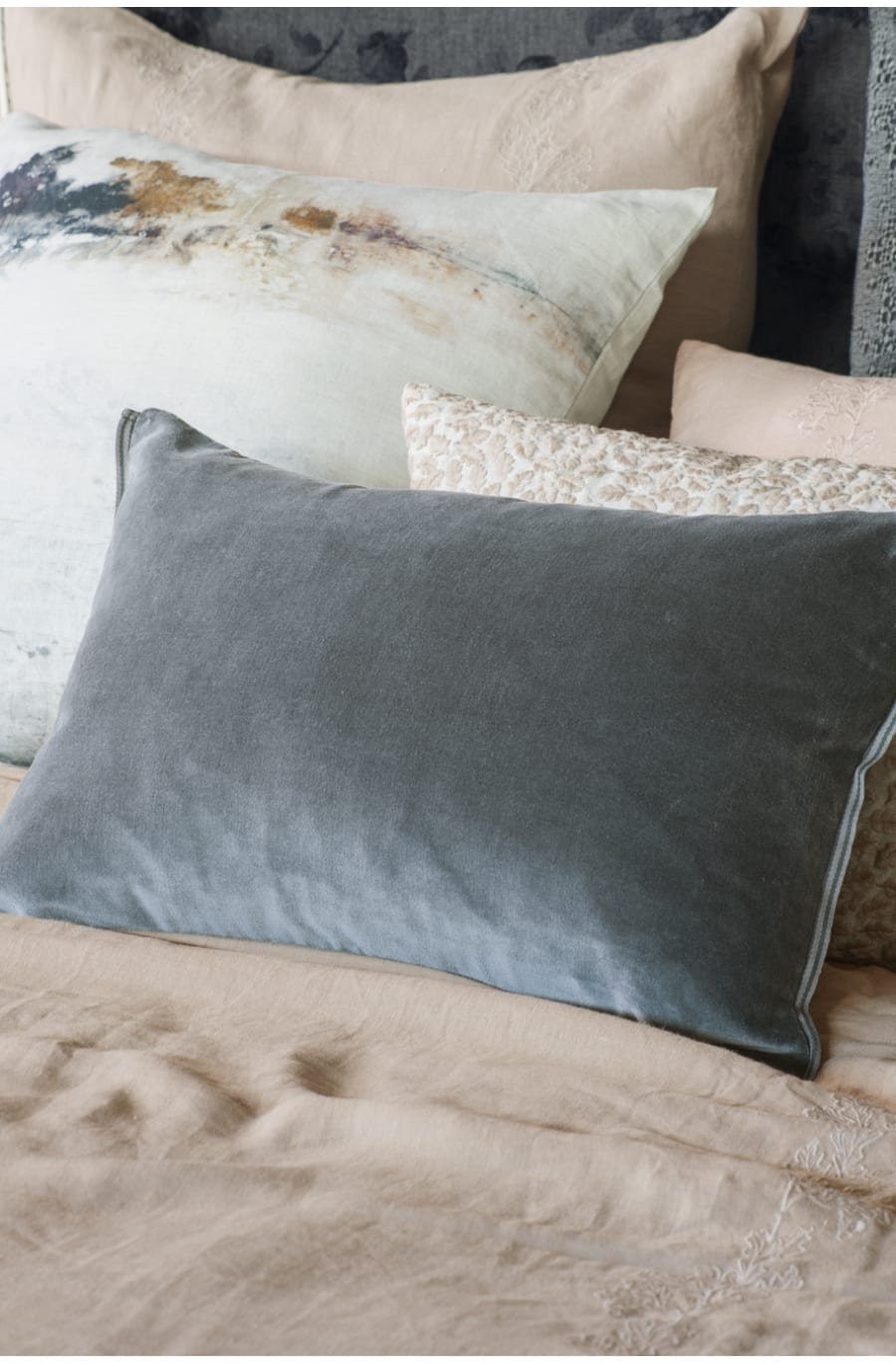 Bianca Lorenne Luchesi Smoke Cushion available at McKenzie & Willis