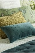 Bianca Lorenne Mica Teal Cushion available at McKenzie & Willis
