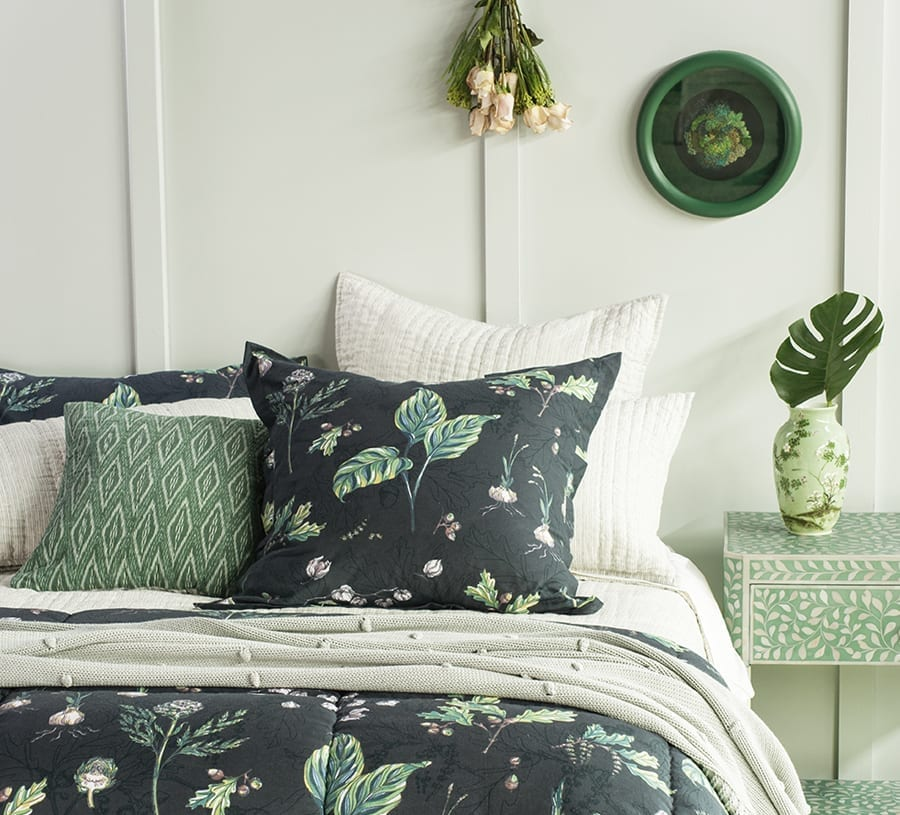 Bianca Lorenne Padua bedlinen range available at McKenzie & Willis