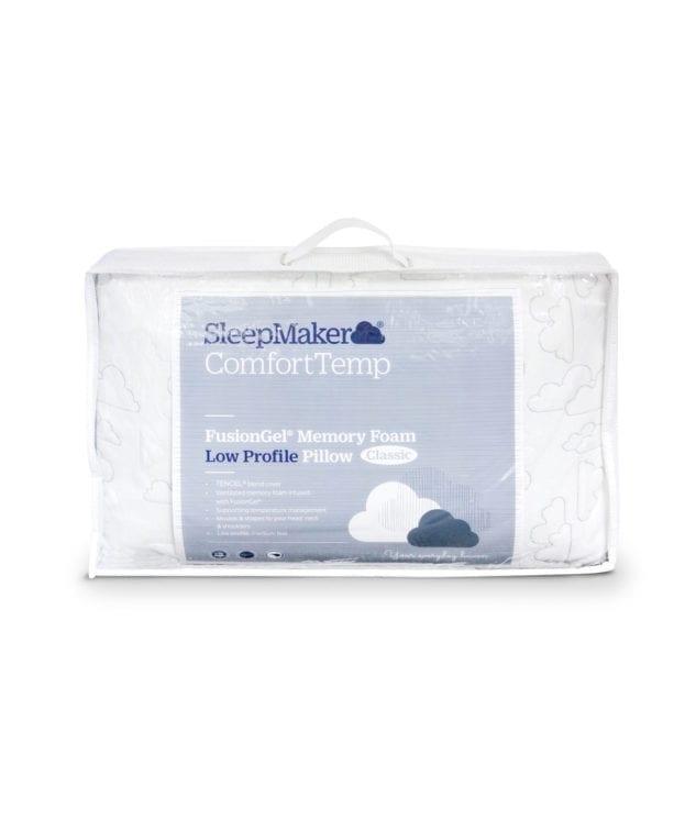 Sleepmaker Comfort Temp Fusion Gel Memory Foam Pillow Low Profile 633x756
