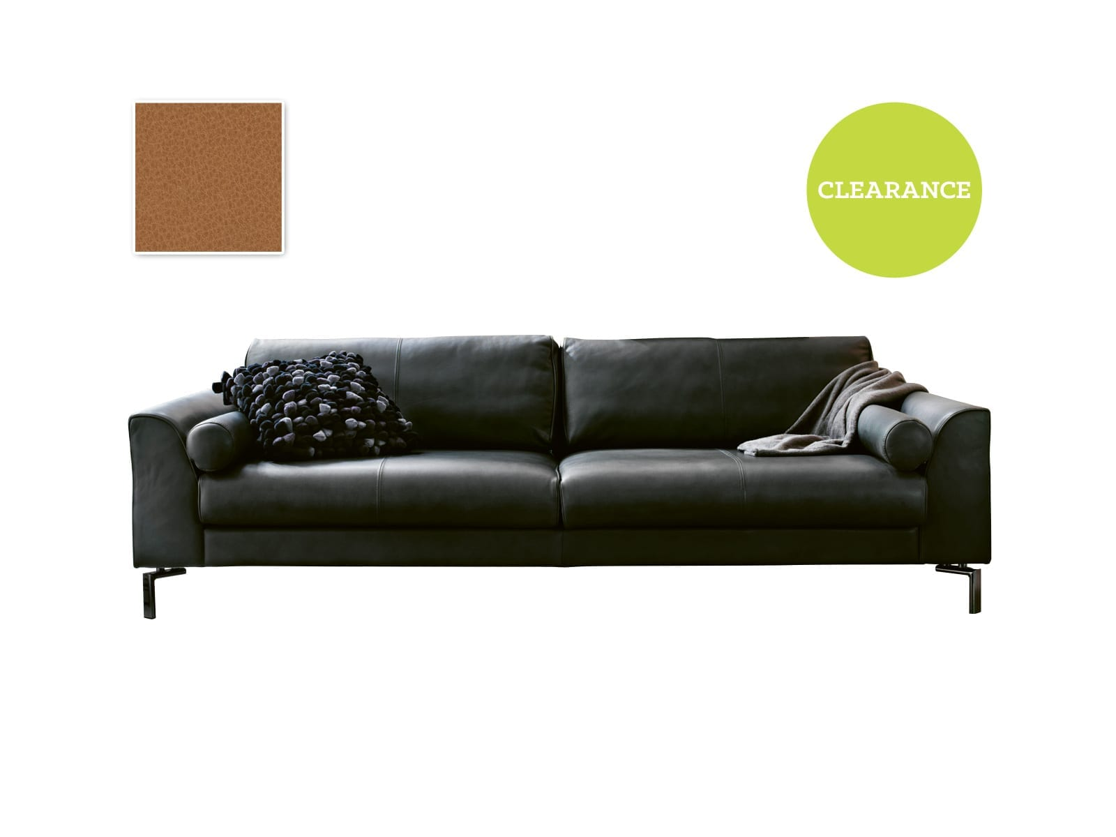 Furninova Blues Baker sofa (Day) in Cat 58 Leather Nature 228090