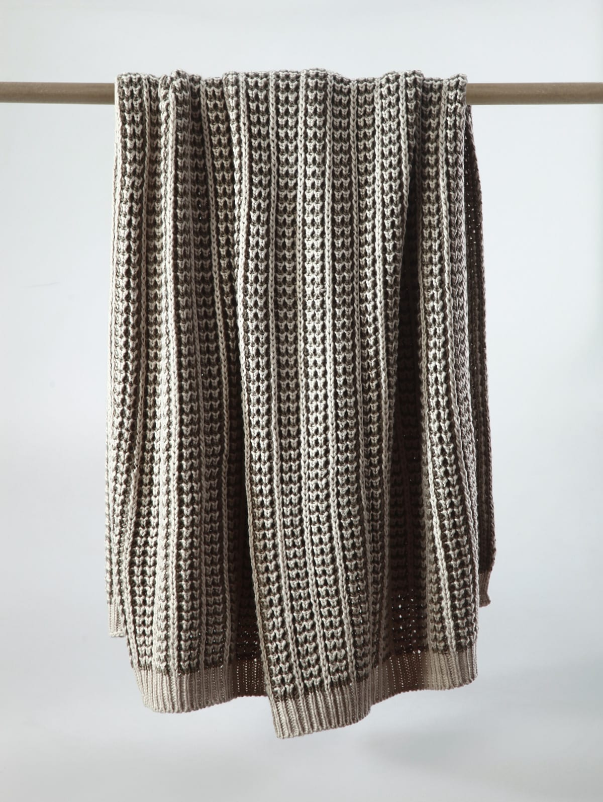 MM Linen Mocha Throw available at McKenzie & Willis