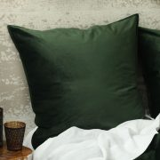 MM Linen Velvet Eurocase Set Forest available at McKenzie & Willis