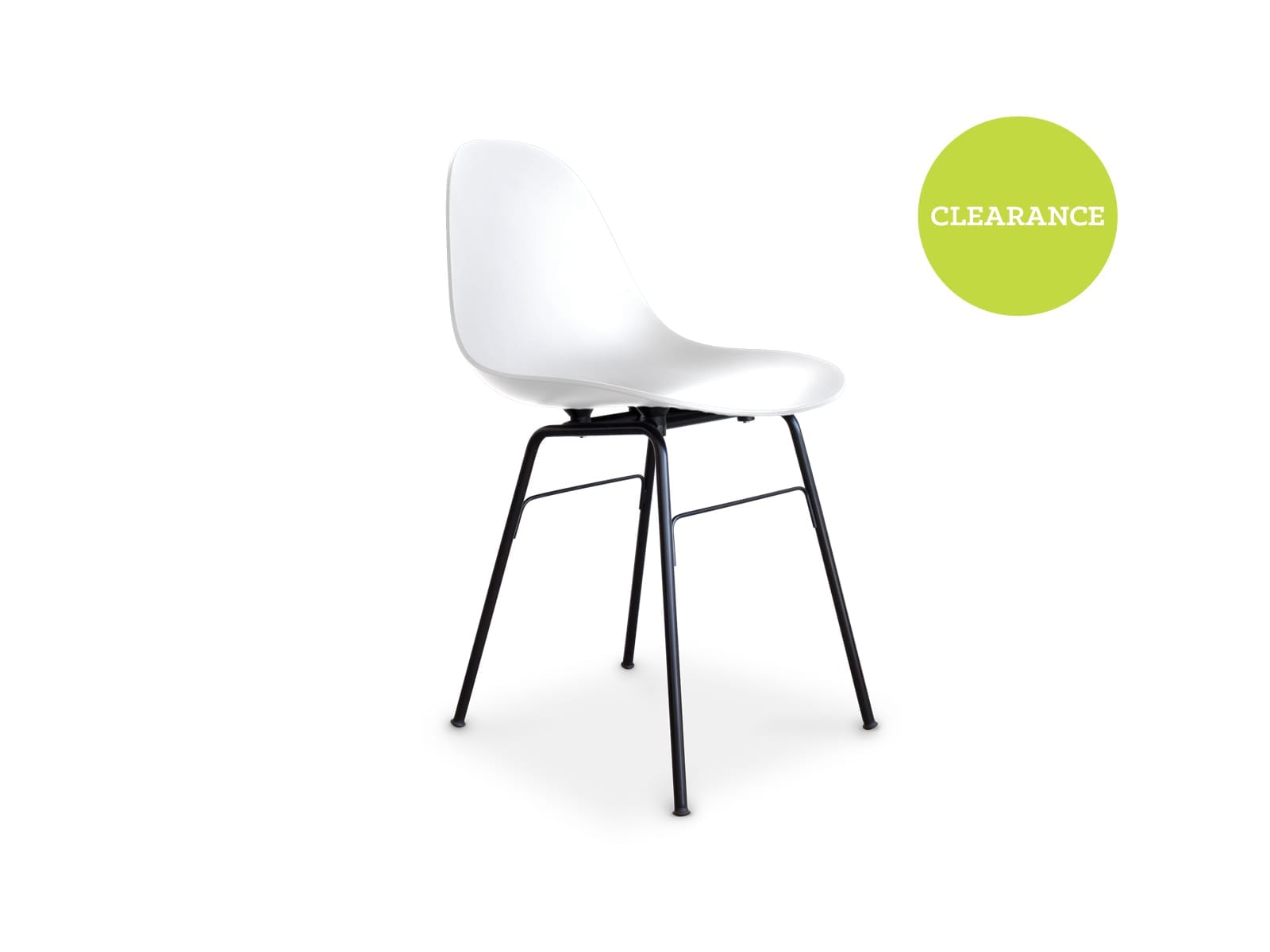 Toou Shell Dining Chair With Metal Leg White in White 226083