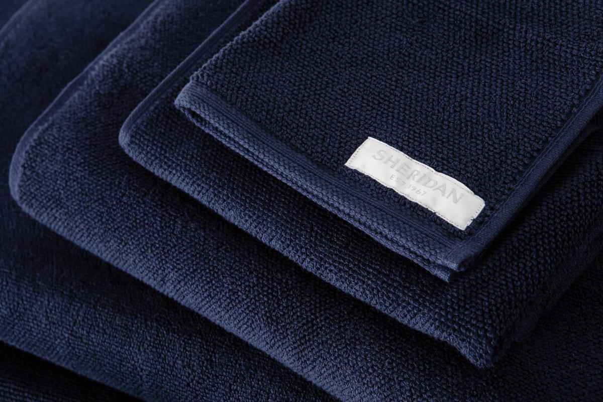 Sheridan Cotton Twist towels in Midnight available at McKEnzie & Willis