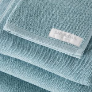 Sheridan Cotton Twist towels in Misty Teal available at McKenzie & Willis
