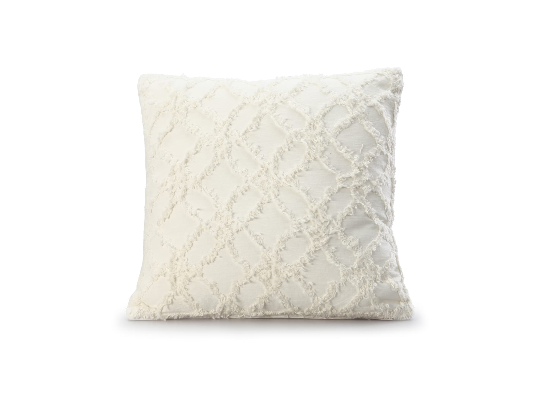MM Linen Clover Cushion Square in Ivory available at McKenzie & Willis