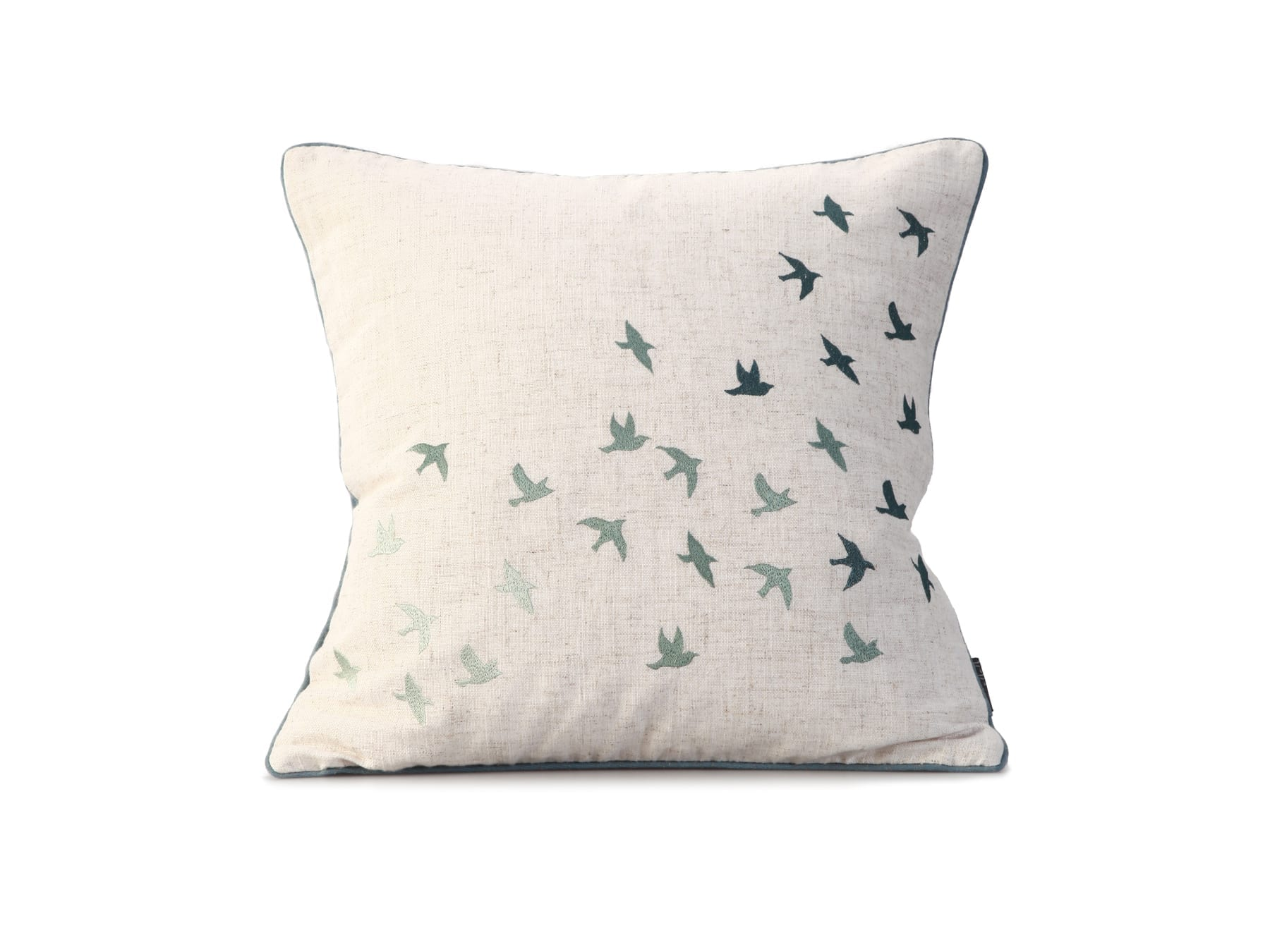 MM Linen Flock of birds cushion available at McKenzie & Willis