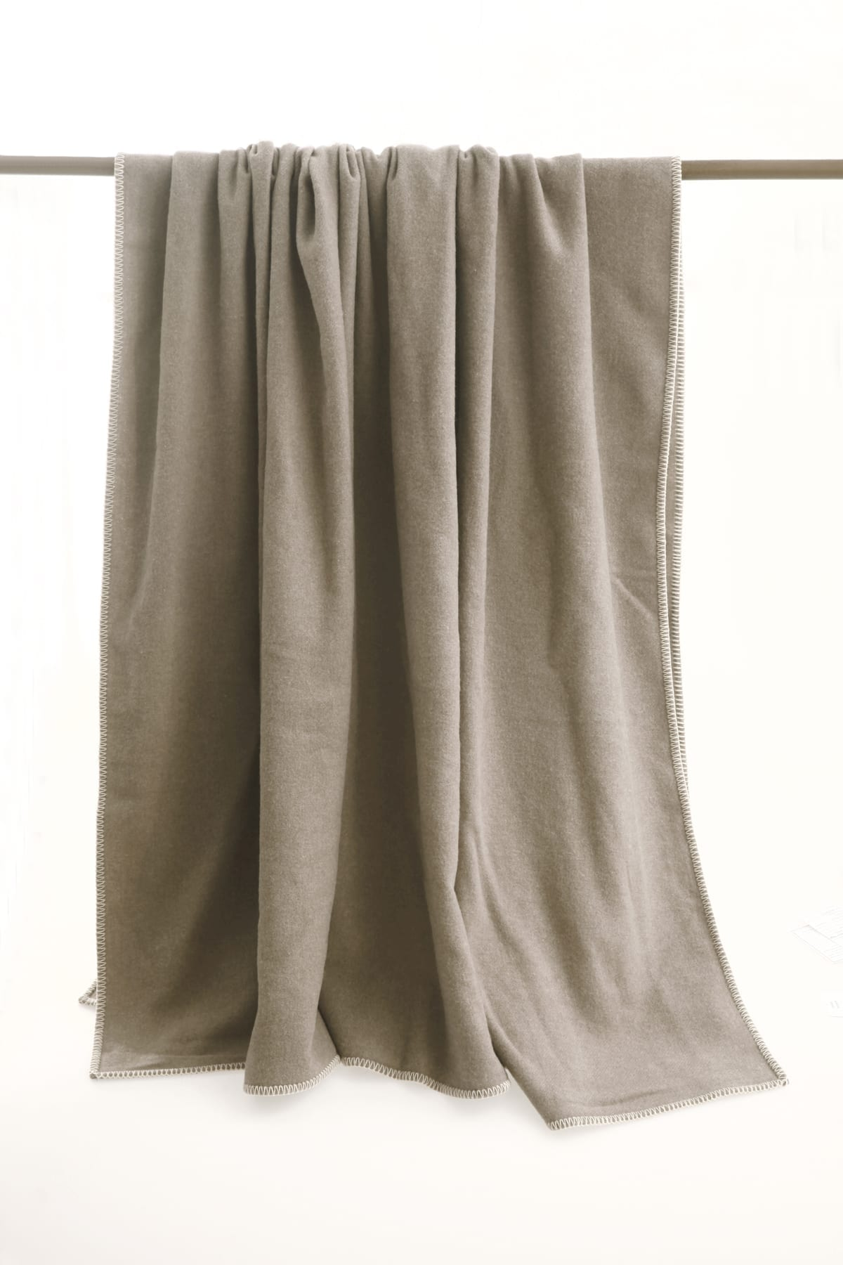 MM Linen Wellshead Blanket in Taupe available at McKenzie & Willis