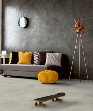 Polyflor Expona Simplay Design Vinyl Tile Light Grey Concrete 2567 Lifestyle