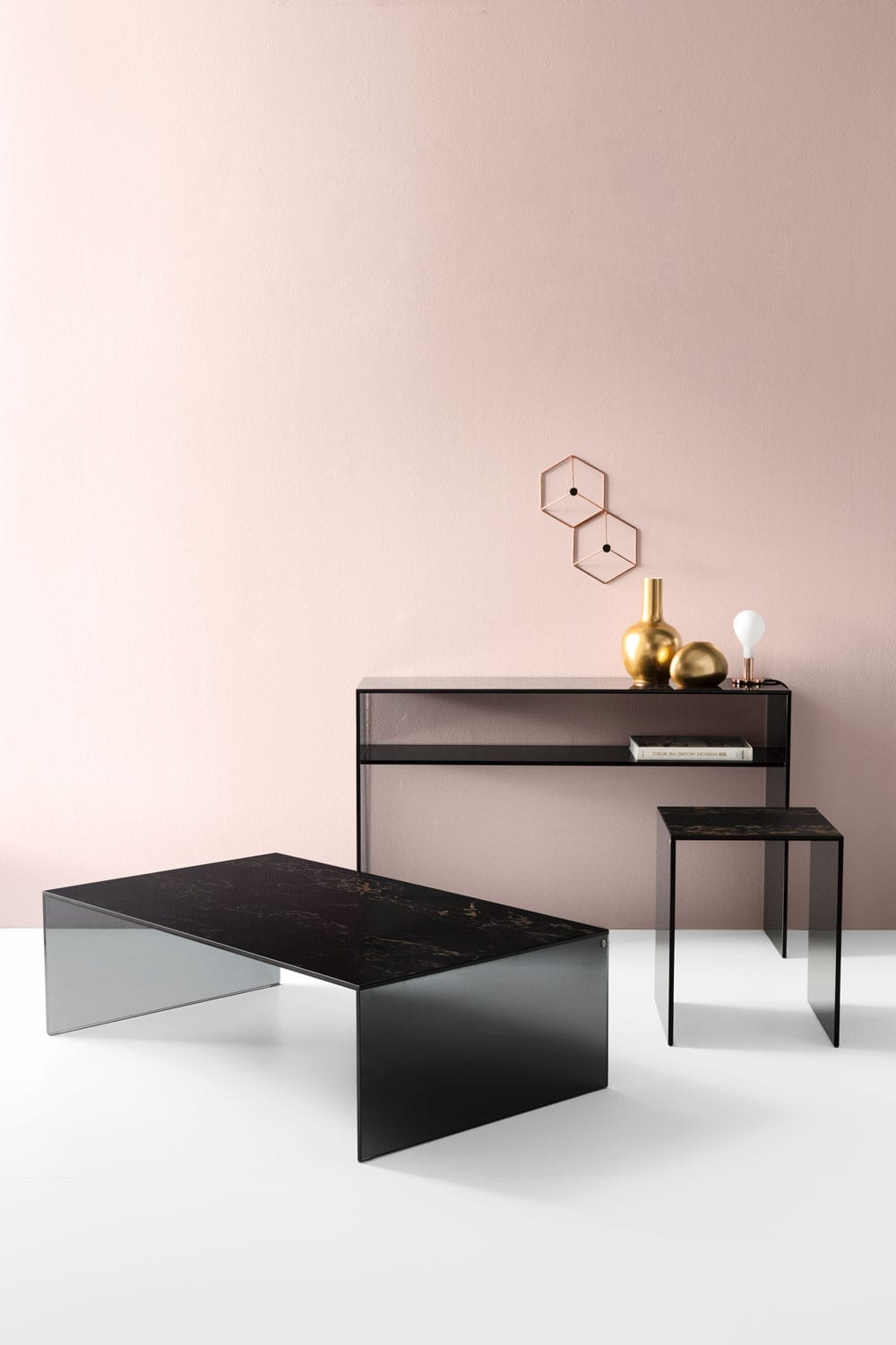 Calligaris Bridge Console and coffee table