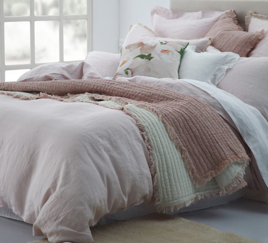 MM Linen Laundered linen Duvet Set Blush