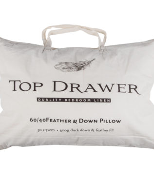 Top Drawer 60/40 Feather & Down Quilted Standard Pillow