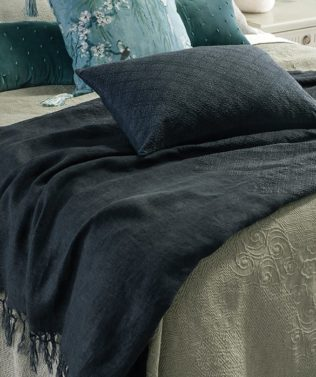 Bianca Lorenne Sashiko Embroidered throw
