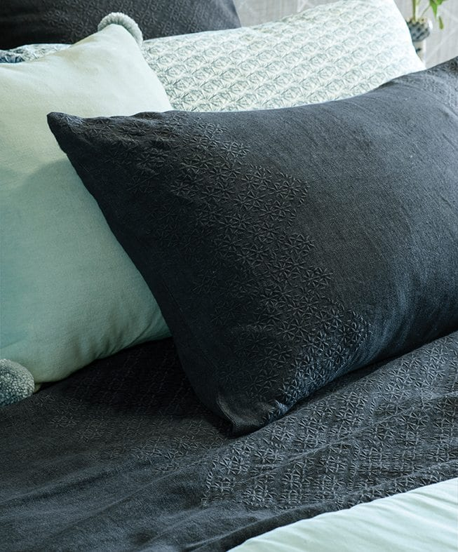 sashiko midnight pillowcase LR