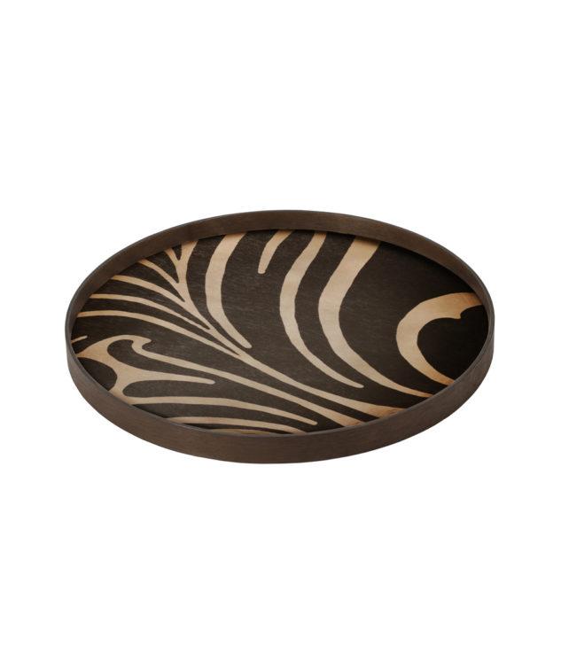 Notre Monde Tray Round Large Wood Folk 2 633x755
