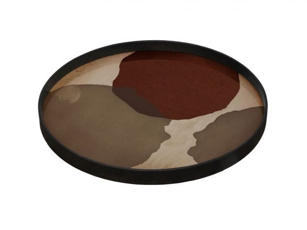 Notre Monde Large Round Tray (glass) - Overlapping dots