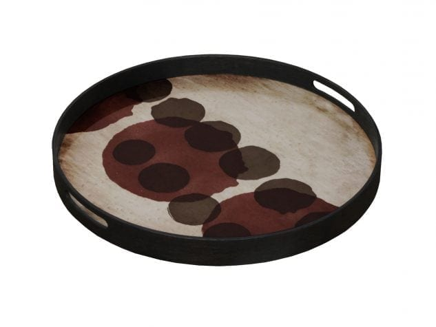 Notre Monde Small Round Tray (Glass) Pinot Layered Dots