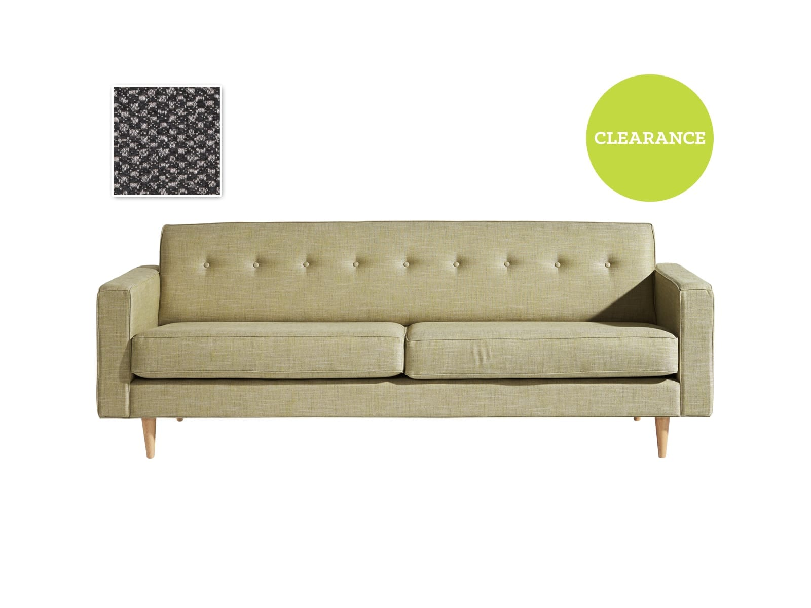 Finewood Chester 3 Seater Sofa in Textilia Mosaic Carbon