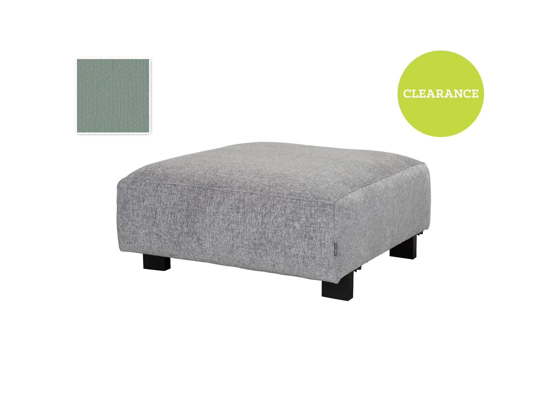 Furninova Vesta Footstool Module Cat B Fabric Light Grey