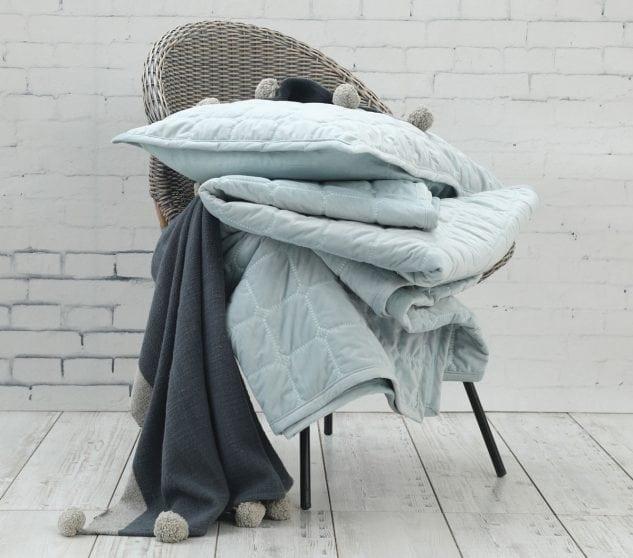 MM Linen Meeka Comforter Set in duck egg