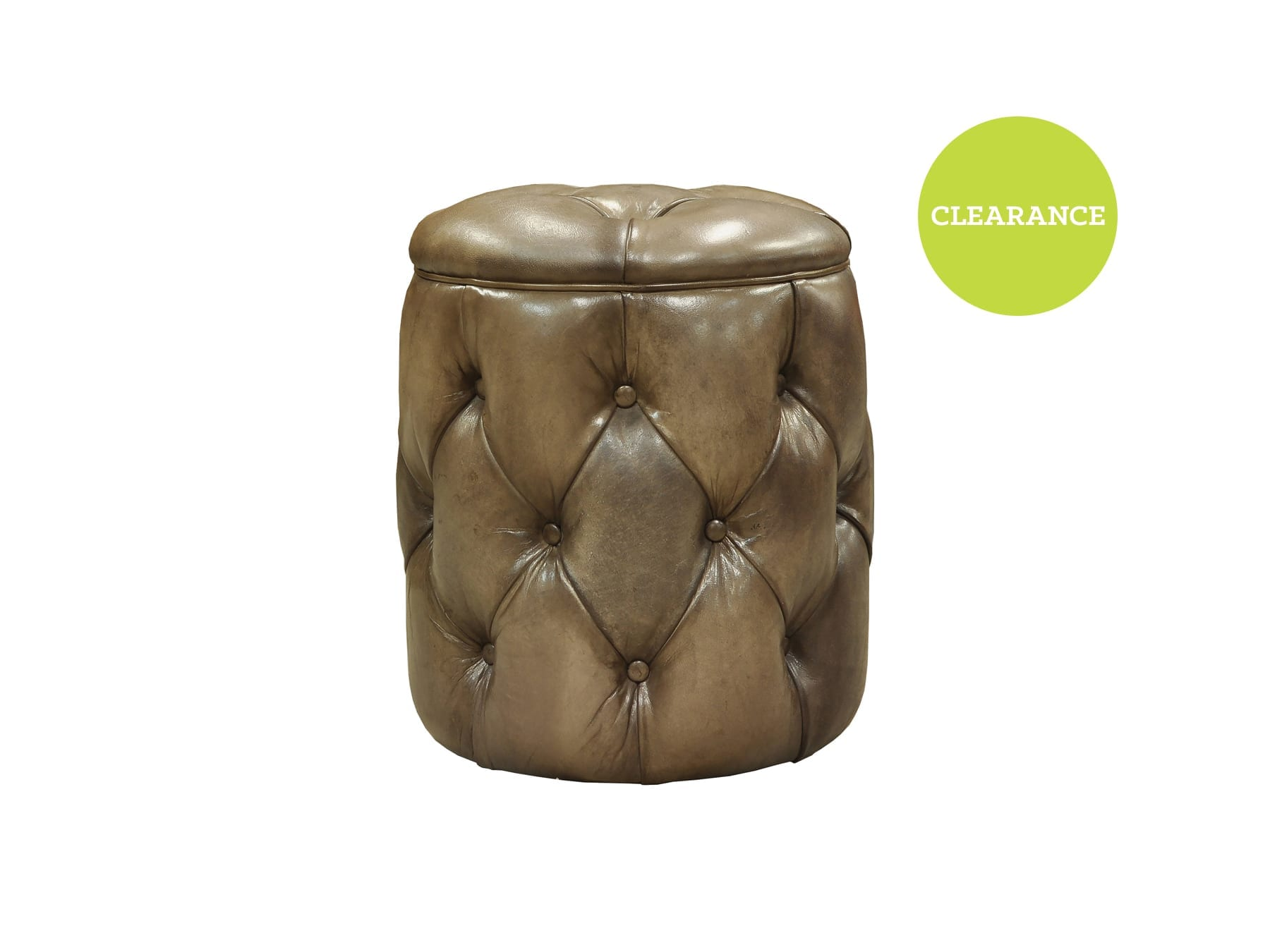Pure Home Louis Pouf in Light Brown