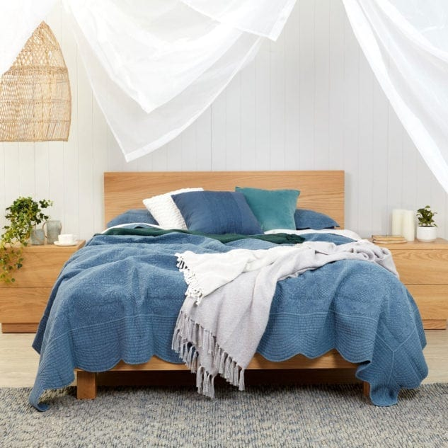 East West Designs Horizon Bed Frame and bedside