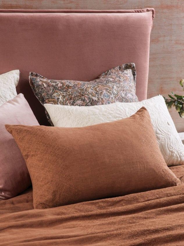 Bianca Lorenne Sashiko Cinnamon Pillowcase