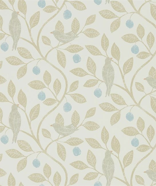 Sanderson The Potting Room Fabric Collection Damson Tree